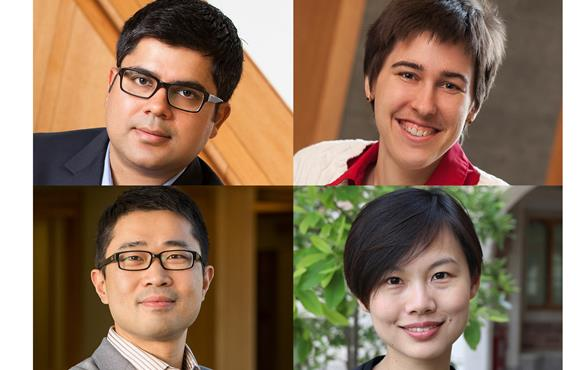 Clockwise from top left: Rajan Chakrabarty, Patty Weisensee, Fangqiong Ling, Chuan Wang