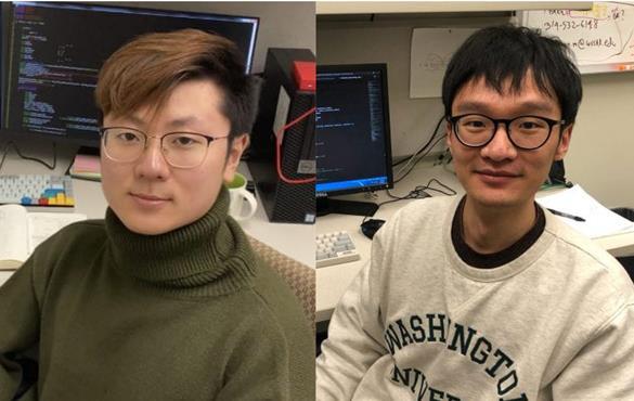(From left) Ziping Liu, Zitong Yu