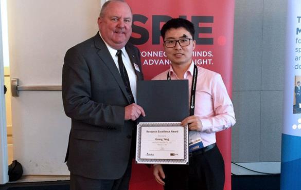 BME student wins prestigious award at SPIE Photonics West